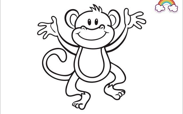 Mewarnai Gambar Monyet