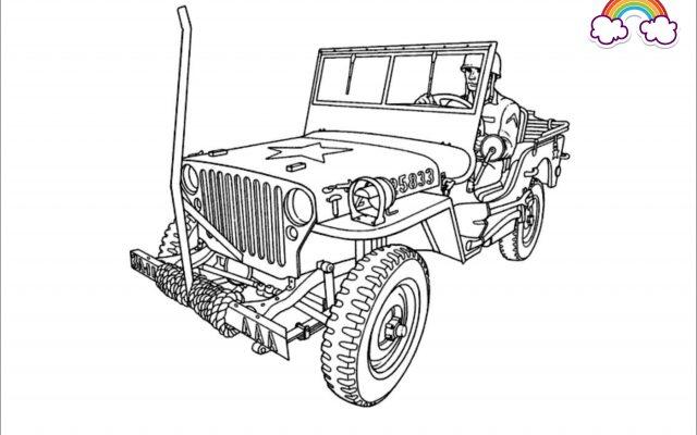Mewarnai Gambar Jeep Willys Komando