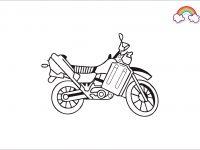 Mewarnai Gambar Sepeda Motor