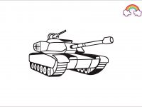 Mewarnai Gambar Tank