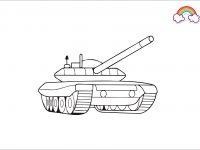 Mewarnai Gambar Tank Tempur